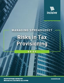 Managing Spreadsheet Risks in Tax Provisioning - Brief